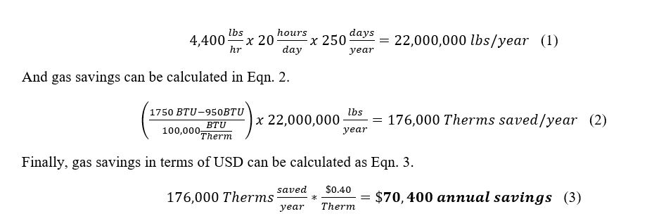 Annual aluminum production can be calculated in Eqn. 1.